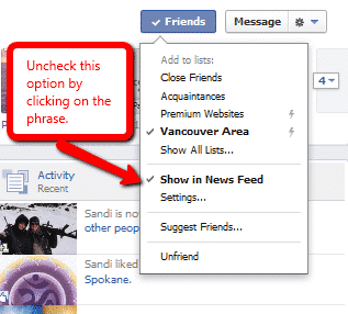 Control your Facebook News Feed