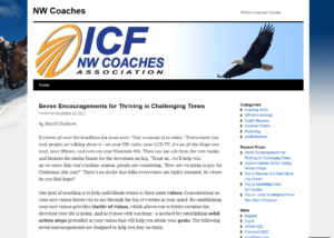 NW Coaches Association Blog