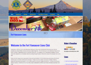 Fort Vancouver Lions Website