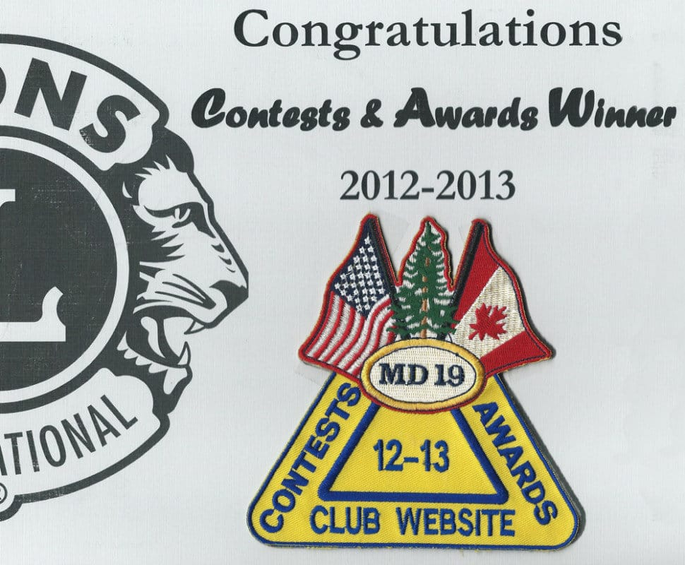 Best Lions Club Website 2013