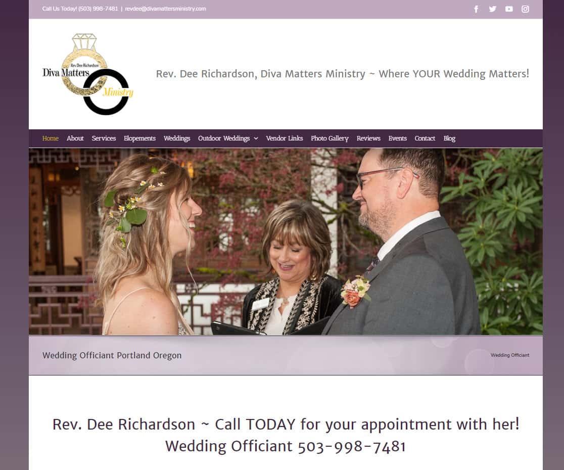 Diva Matters Ministry Service Website