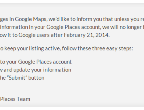 Update Your Google Places Before February 21st, 2014