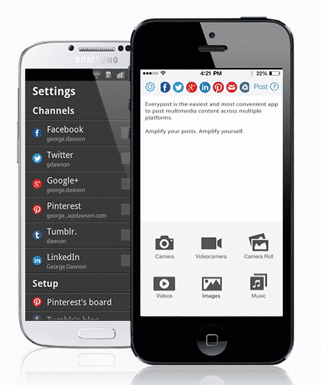 EveryPost: Social Media on a Smart Phone