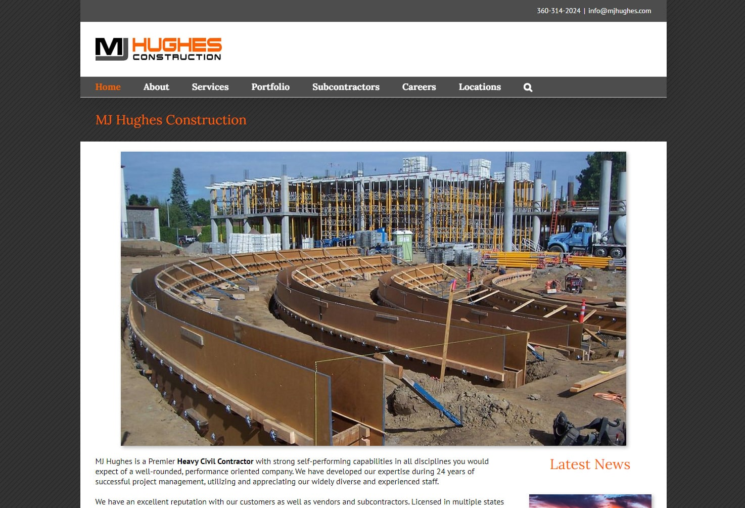 MJ_Hughes Construction Websites