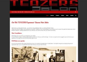 Teazers Hair Salon Website