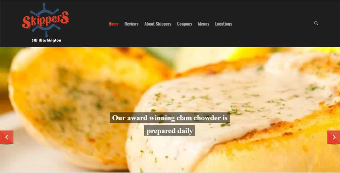 Skippers Restaurant Website