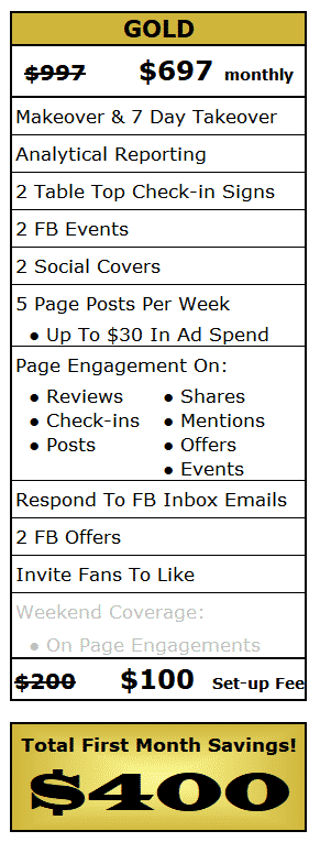 Facebook Social Selling Gold Package