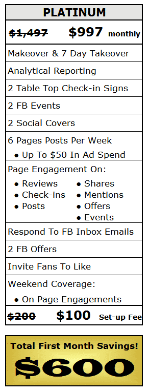 Facebook Social Selling Platinum Package