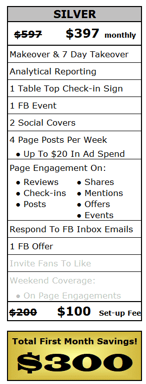 Facebook Social Selling Silver Package
