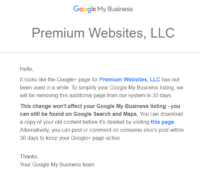 Google+Page Deletion