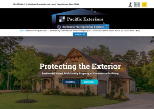 Pacific Exteriors - Contractor Website