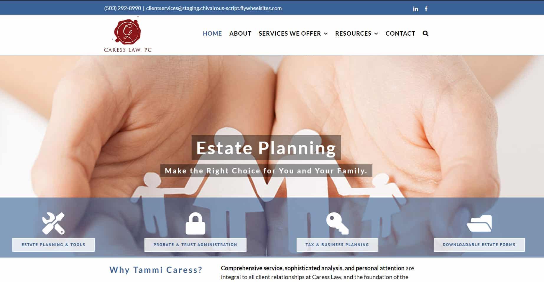 Caress_Law Service Based Websites