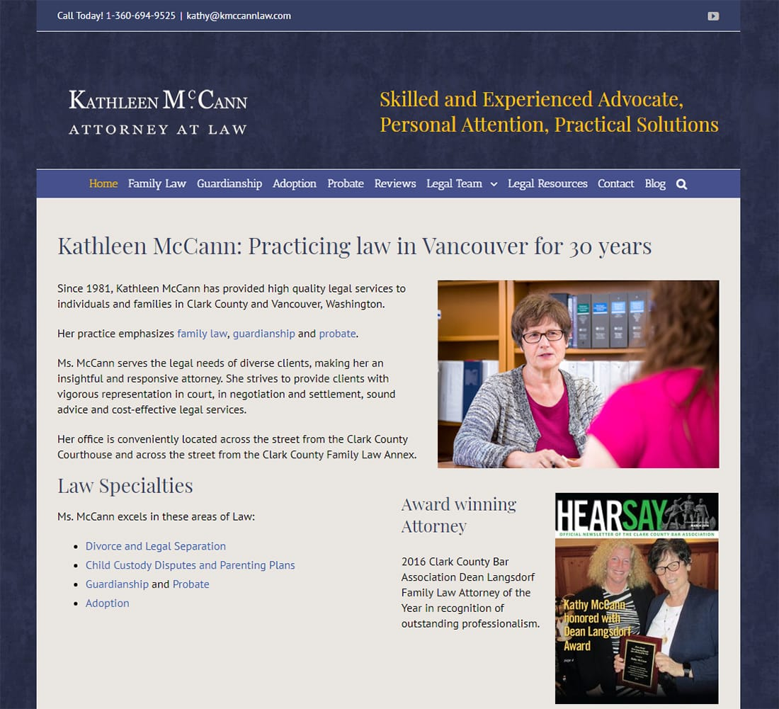Kathy McCann Attorney Website