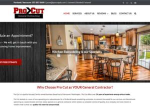 Pro Cut General Contracting Website