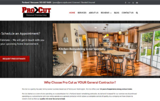 Pro Cut General Contracting Website