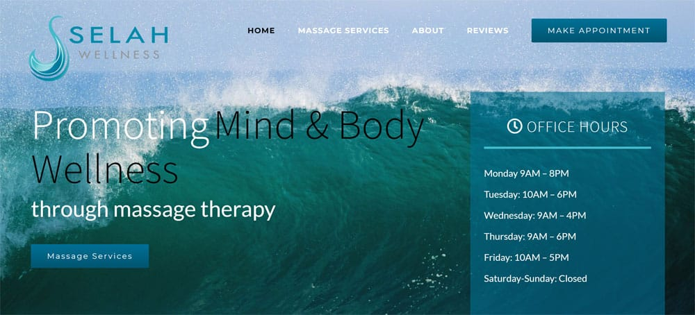 Selah Wellness - Health and Wellness Industry website
