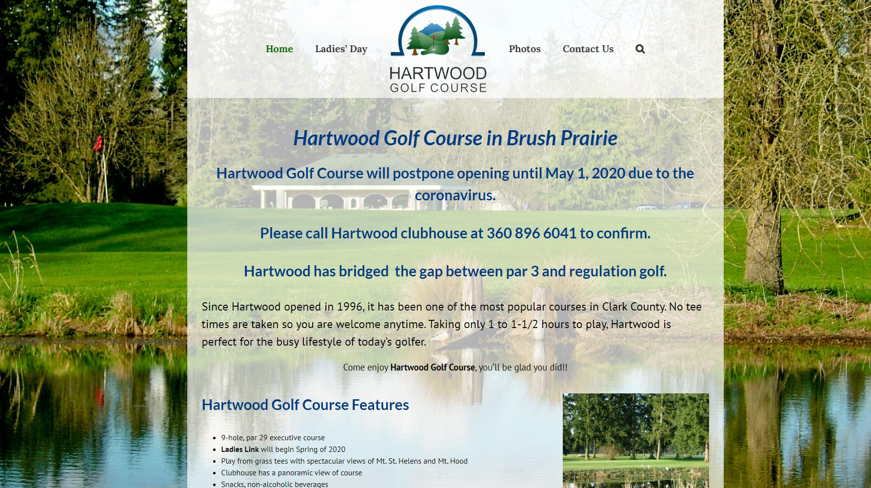 Hartwood Golf Website