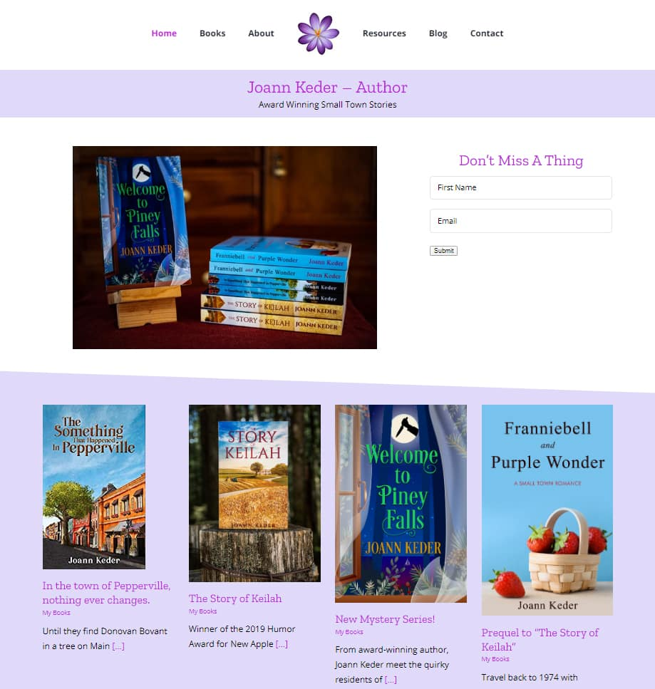 Joann Keder Author Website