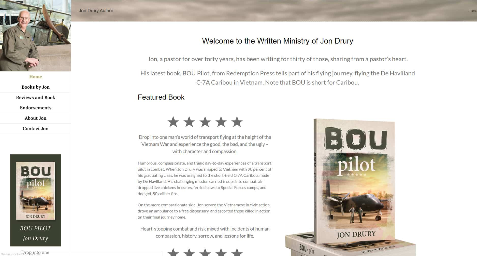 Jon Drury Author Website