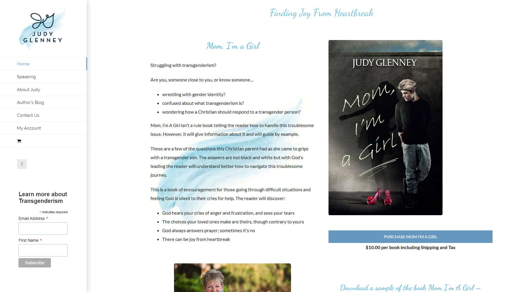 Judy Glenney Author Website