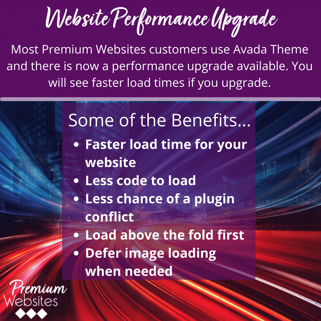 Website Performance Upgrade!